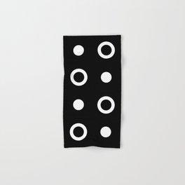 Polka Dot Pattern 243 Black And White Hand & Bath Towel