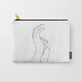 Hands line drawing illustration - Carly Carry-All Pouch