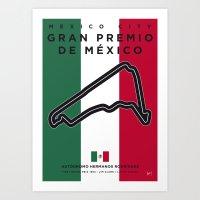 My F1 Mexico Race Track Minimal Poster Art Print