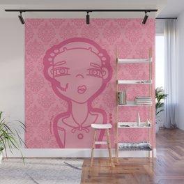 AGATHA pink (duvet) Wall Mural