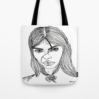 sassy Tote Bags featuring sassy  by starudijia