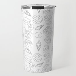 Sweets & Treats - Black & White Travel Mug