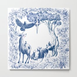 Forest critters staring at the stars Metal Print