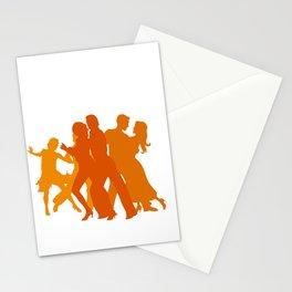 Tango Dancers Illustration  Stationery Cards