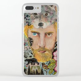 Self-Portrait Clear iPhone Case