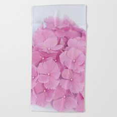 Light-Pink Hydrangeas #1 #decor #art #society6 Beach Towel