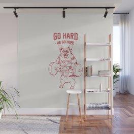 Go Hard or Go Home Corgi Wall Mural