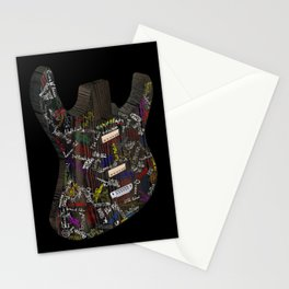Guitar of fame: Wood version Stationery Cards