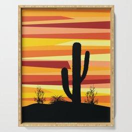 Geometric desert sunset Serving Tray