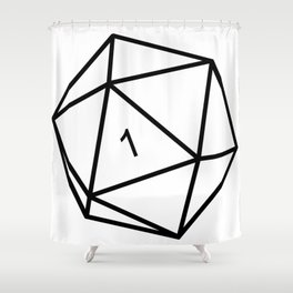Fumble - Dungeons & Dragons for Dummies Shower Curtain