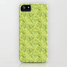 Green Garden Nature Pattern iPhone Case