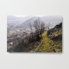Walking down the hill Metal Print