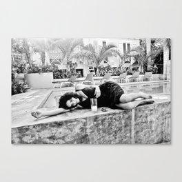 poolside, vieques, puerto rico, 2010 Canvas Print