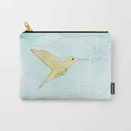 Humming bird with fuchsia Carry-All Pouch