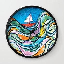 Sailing 2 Wall Clock