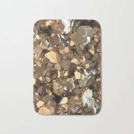 Golden Pyrite Mineral Bath Mat