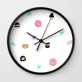 Pretzels and donuts Wall Clock