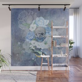 Skull And Butterfly Wall Mural