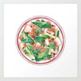 Double Cooked Pork Slices | 回锅肉 Art Print