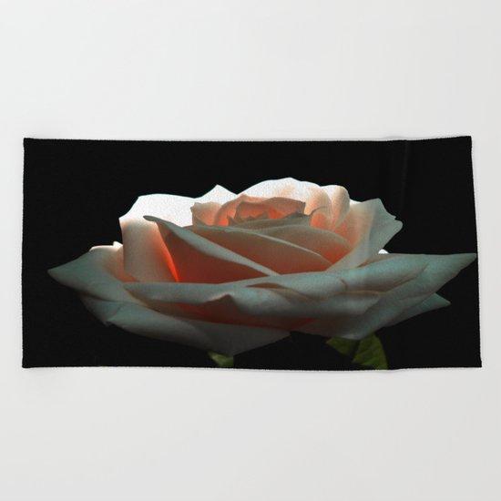 A Beautiful Rose Beach Towel