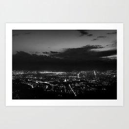 Torino wears black Art Print