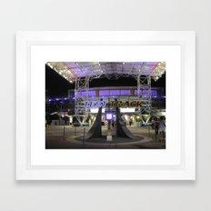 Test Track at Night Framed Art Print