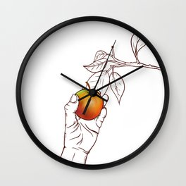 Picking apples Wall Clock