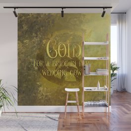 GOLD for a bride in her wedding gown. Shadowhunter Children's Rhyme. Wall Mural