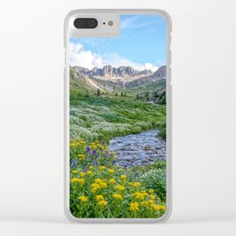 AMERICAN BASIN COLORADO MOUNTAIN SUMMER LANDSCAPE PHOTOGRAPHY Clear iPhone Case