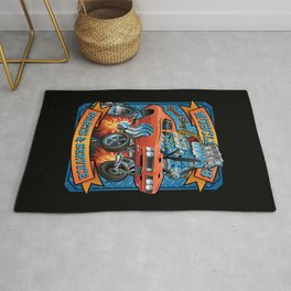 Classic Sixties Muscle Car Parts & Service Cartoon Rug