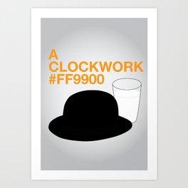 A Clockwork #FF9900 Art Print