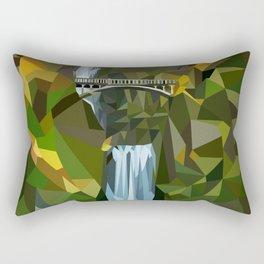 Geometric Multnomah Falls  Rectangular Pillow