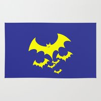 bat Area & Throw Rugs featuring Bat by Spooky Dooky