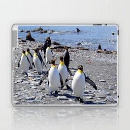 King Penguins on the Beach Laptop & iPad Skin