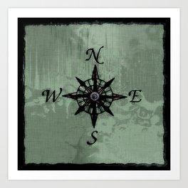 Historic Old Compass Rose Art Print