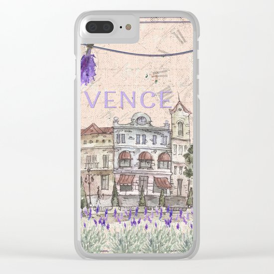 Provence France - my love  - Lavender and Summer on #Society6 Clear iPhone Case