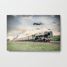 Spifires and The Scotsman Metal Print