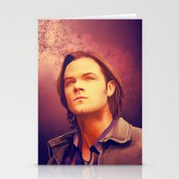 sam winchester Stationery Cards featuring Sam Winchester - Supernatural by KanaHyde