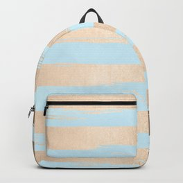 Paint Stripes Gold Tropical Ocean Sea Turquoise Backpack