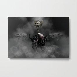 Laughing at my disaster Metal Print