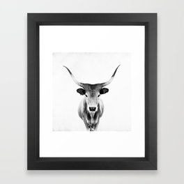 Honey - black and white Framed Art Print