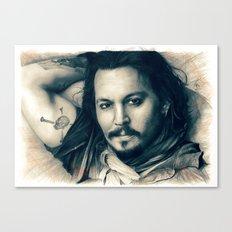 Johnny Depp II. Canvas Print