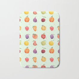 fruit collection watercolor Bath Mat