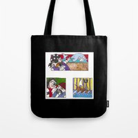 pirates Tote Bags featuring Pirates by Rayna Polsky