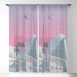 Miami Nice (chopper ver.) Sheer Curtain