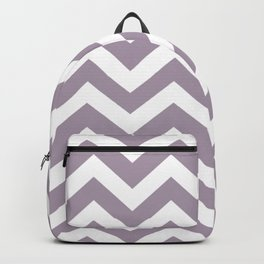 Heliotrope gray - grey color -  Zigzag Chevron Pattern Backpack