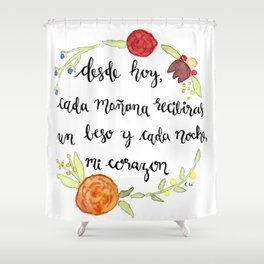 Un Beso y Mi Corazon Shower Curtain