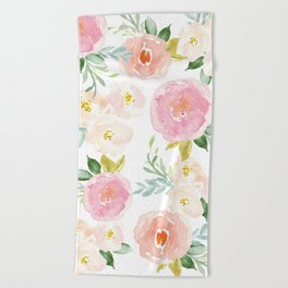 Sweet Pink Blooms (Floral 02) Beach Towel