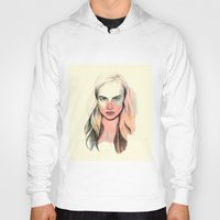 cara Hoodies featuring Cara by Beth Zimmerman Illustration