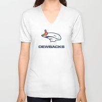 nfl V-neck T-shirts featuring Denver Dewbacks - NFL by Steven Klock
